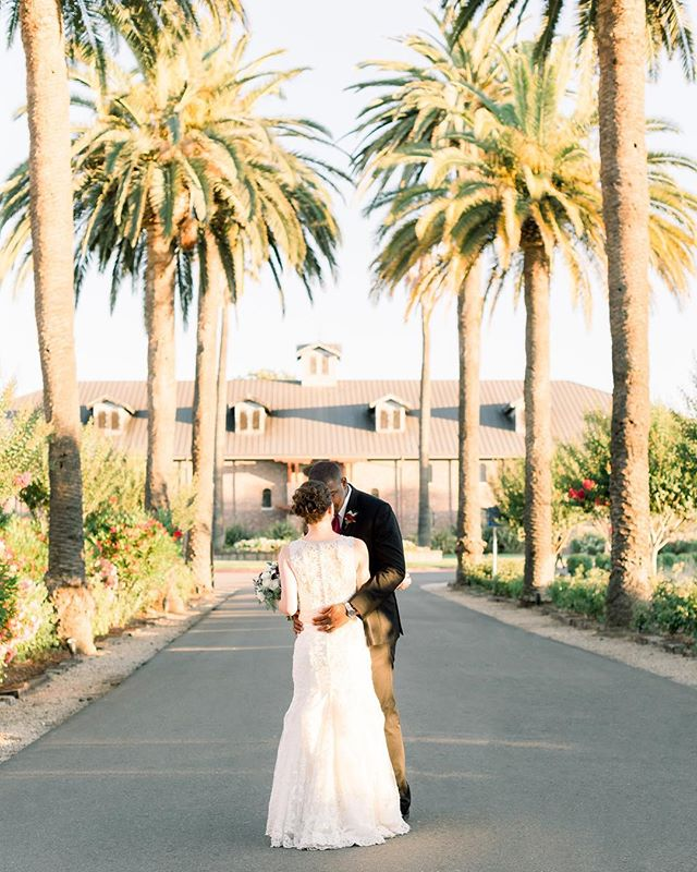With the warm summer wind, the sound of the palm trees swaying above and the magical sparks between these two, their love was 🔥!!! . . . . . . . . . . . . . . . . #filmweddingphotographer #fineartweddingphotographer #vacavilleweddingphotographer #napaweddingphotographer #palmeventcenter