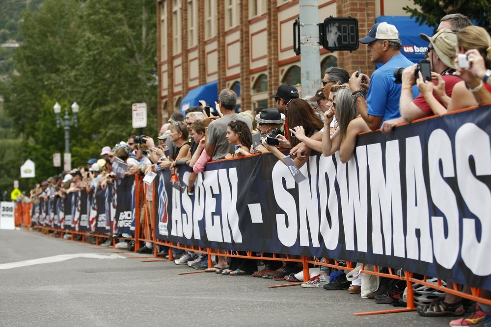 The crowds in Aspen came out in force.