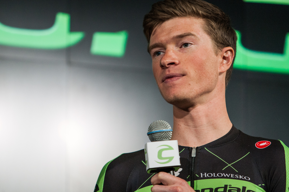 American rider Ben King shares his 2015 goals at the Cannondale-Garmin Pro Cycling launch event.