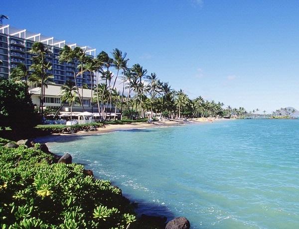 Kahala Beach Scene