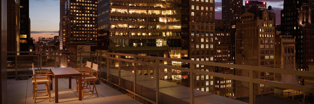 Andaz 5th Avenue - Suite Balcony Night View