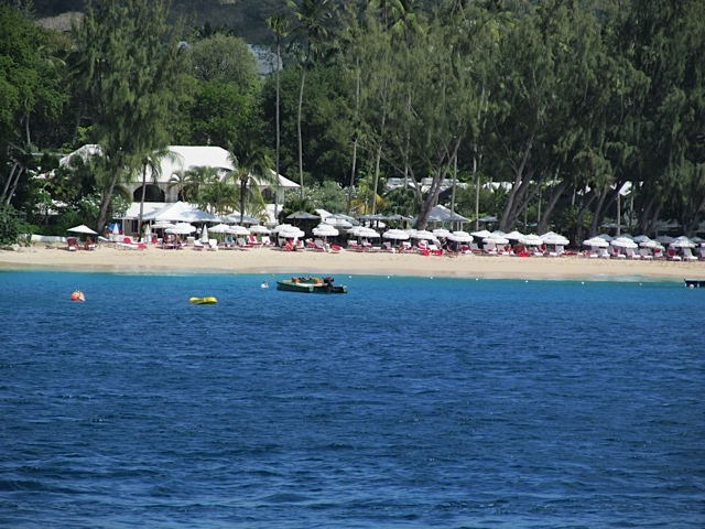 Colony Club ,Barbados - The beach from the sea