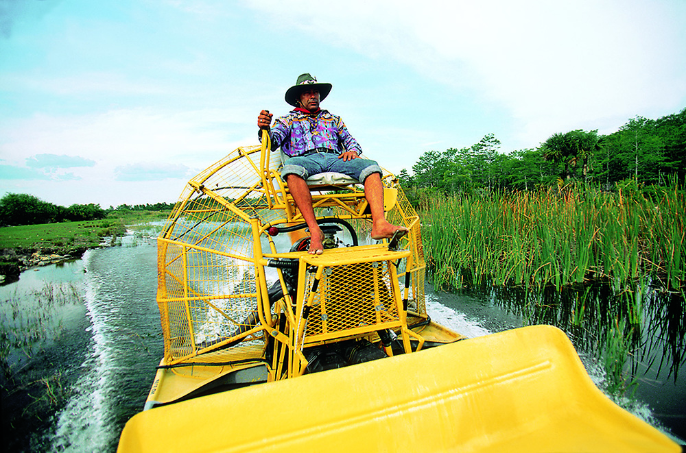 Air Boat on the Everglades