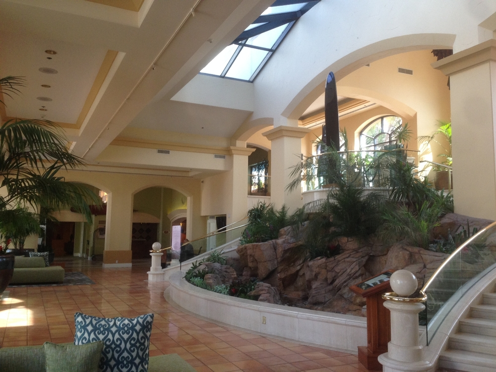 lobby area of Hilton Waterfront