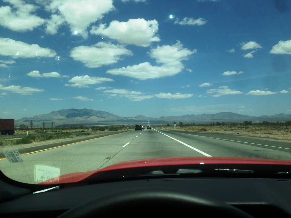 Open Road into Las Vegas