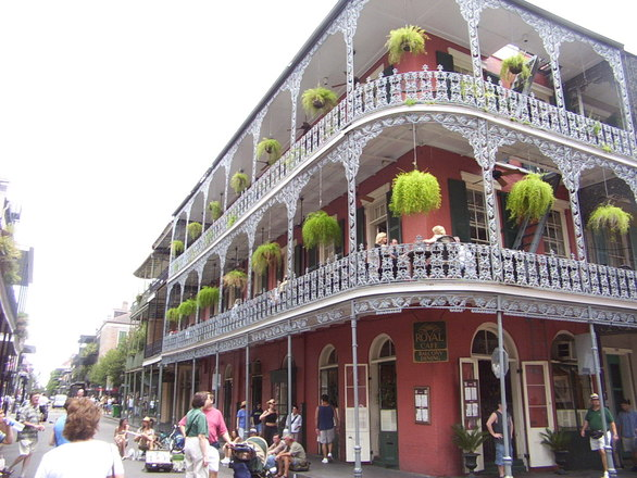 Lunch on the Balcony - New Orleans