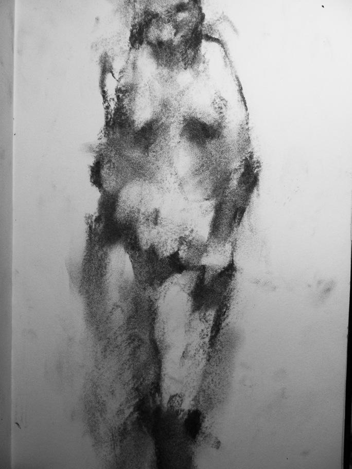 E.K.Study III 2009 charcoal on paper