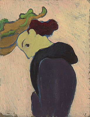 VUILLARD, Profile of woman in green hat 1891