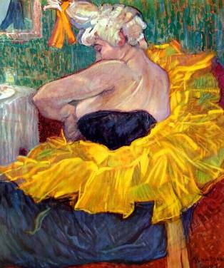Toulouse LAUTREC Lady Clown Cha-U-Kao 1895