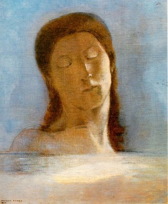 REDON Eyes Closed 1890