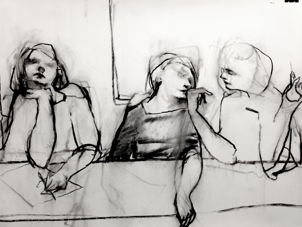 Study after Baldessin's 'Banquet' 1968