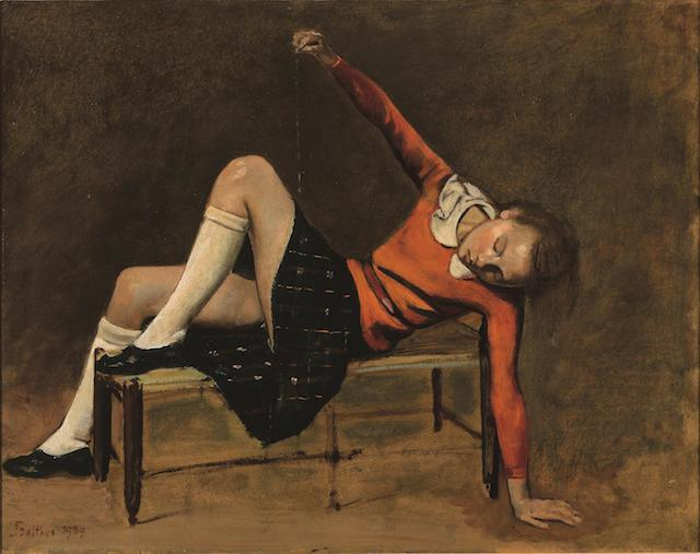Balthus | Thérèse on a Bench 1939