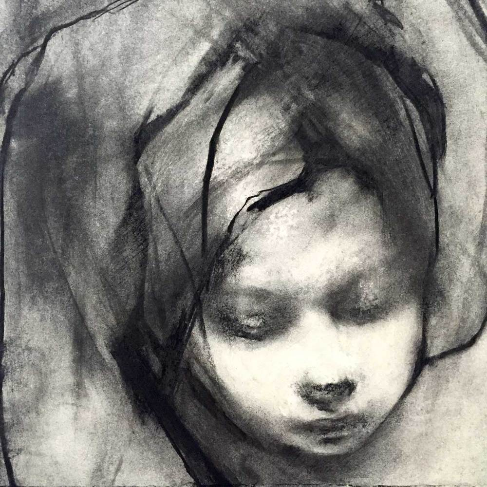 Head of the Child (study after Nolde's Bathing Child 1922)