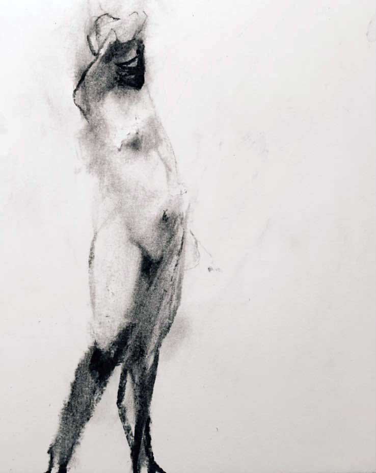 figure study after dark