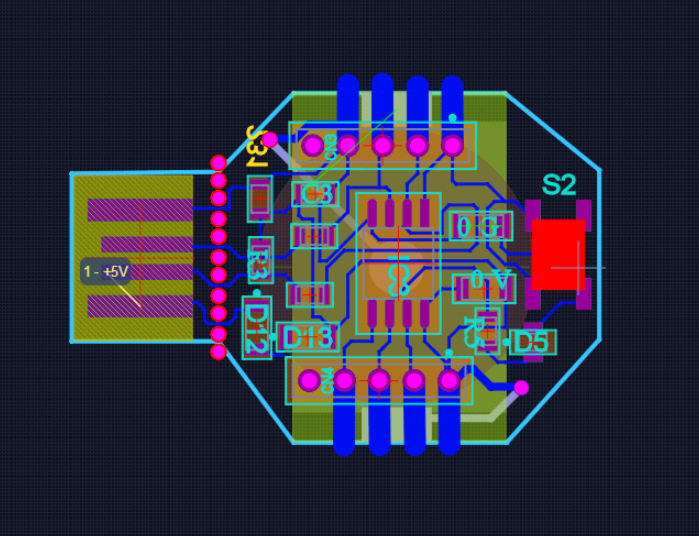 PCB View of Octotrinket