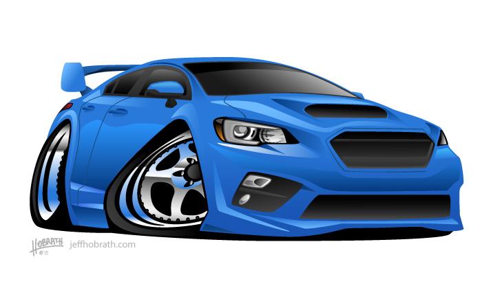 Modern Import Sports Car Illustration