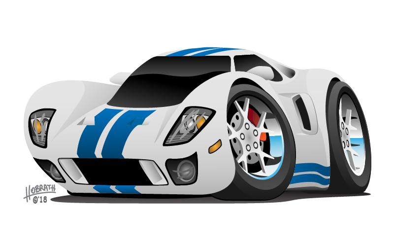 Super Car Cartoon Vector Illustration