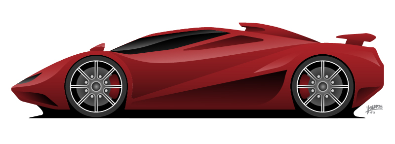 Super Car Vector Illustration