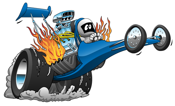 Top Fuel Dragster Cartoon
