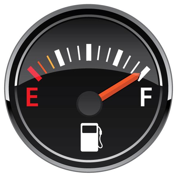 Gas Fuel Automotive Dashboard Gauge Vector Illustration