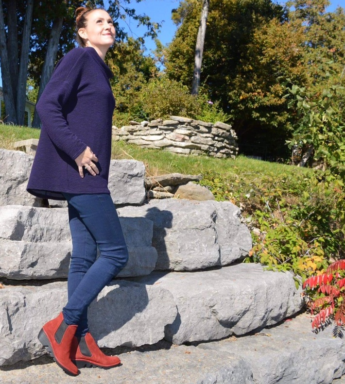 Our very own BnB line comfy, cozy for these cool fall days  Brittany wearing little suede Fly London - Andrea is wearing cozy suede shearling lined boot from EmuA.jpg