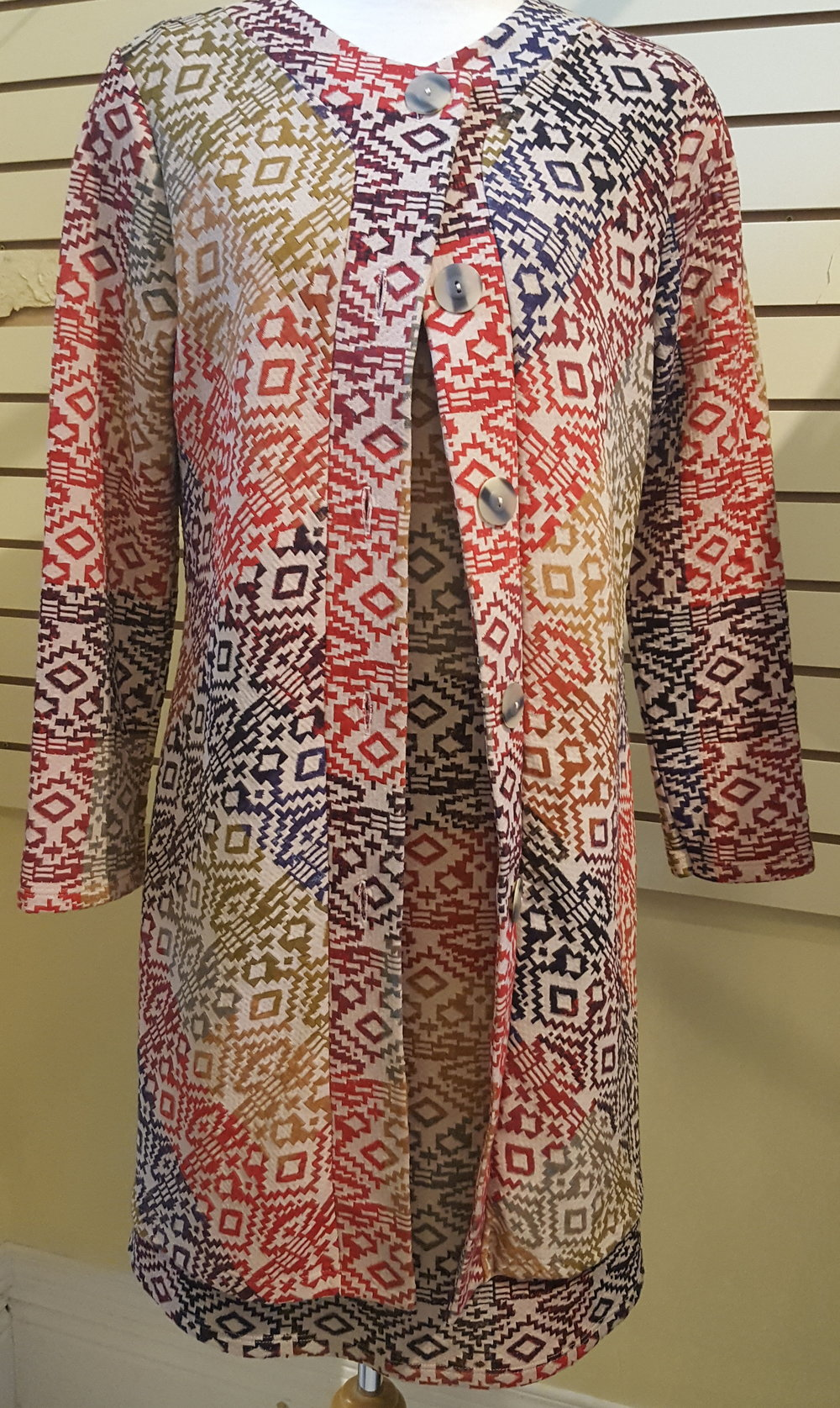 Dress shevless dress n coat Canadian madeB.jpg