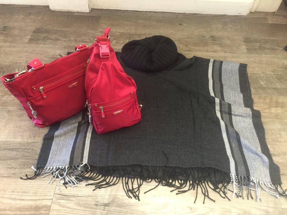 Ponchos are huge for fall, Beside U purses are your travel handbag with season.JPG