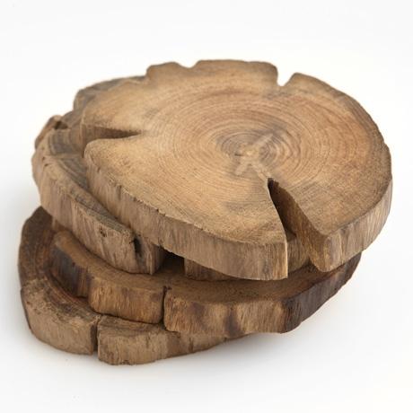Teak Wood Coasters