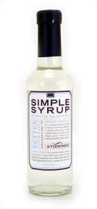 Simple Syrup: You can find simple syrup at most grocers, but a lot of people enjoy making their own. The ingredients are 1-part water to 1-part sugar. Pretty simple right? What a fitting name!