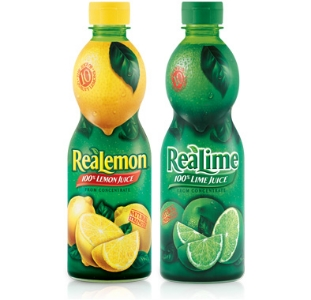 Lemon and Lime Juice: Separately unless you're trying to make home-made sprite.