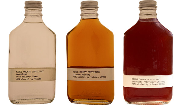 King's County Moonshine, Whiskey, and Chocolate Flavored Whiskey