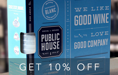Click picture to download the app and get 10% off Public House Wine!