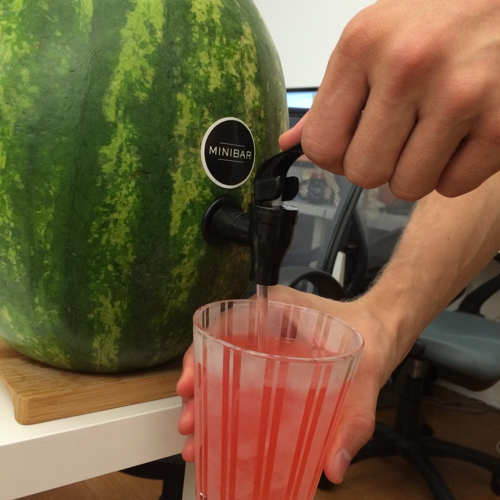 We used the watermelon's fruit to make a delicious watermelon and vodka punch!