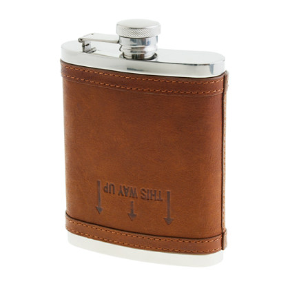 This Way Up Leather Flask by J. Crew