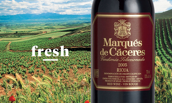 Marques De Caceres Rioja Crianza - This smooth Spanish Rioja has cherry and raspberry flavors. It's vanilla and spice notes gives it a fresh finish.
