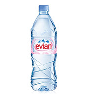 E FOR Evian Water