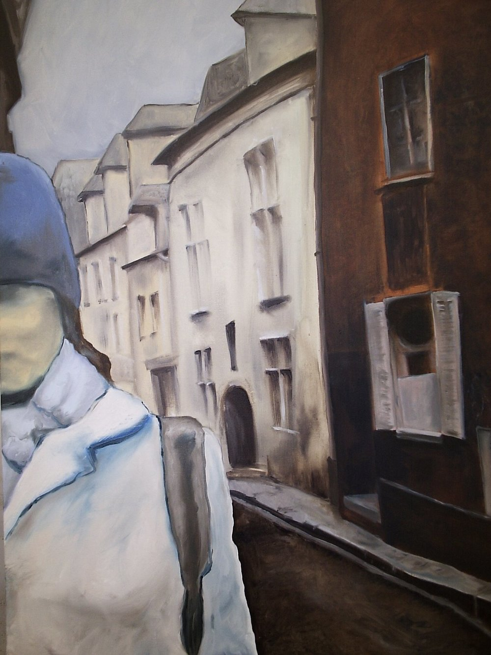 "In Chartres. Oil on canvas. 30"" x 40"". 2005."