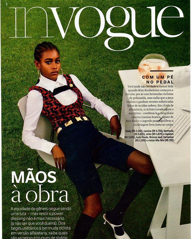 Scarllath Lopez for Vogue Brasil.  #scarllathlopez #voguebrasil #vogue #brazilianmodel #fashioneditorial #beauty #blackpower