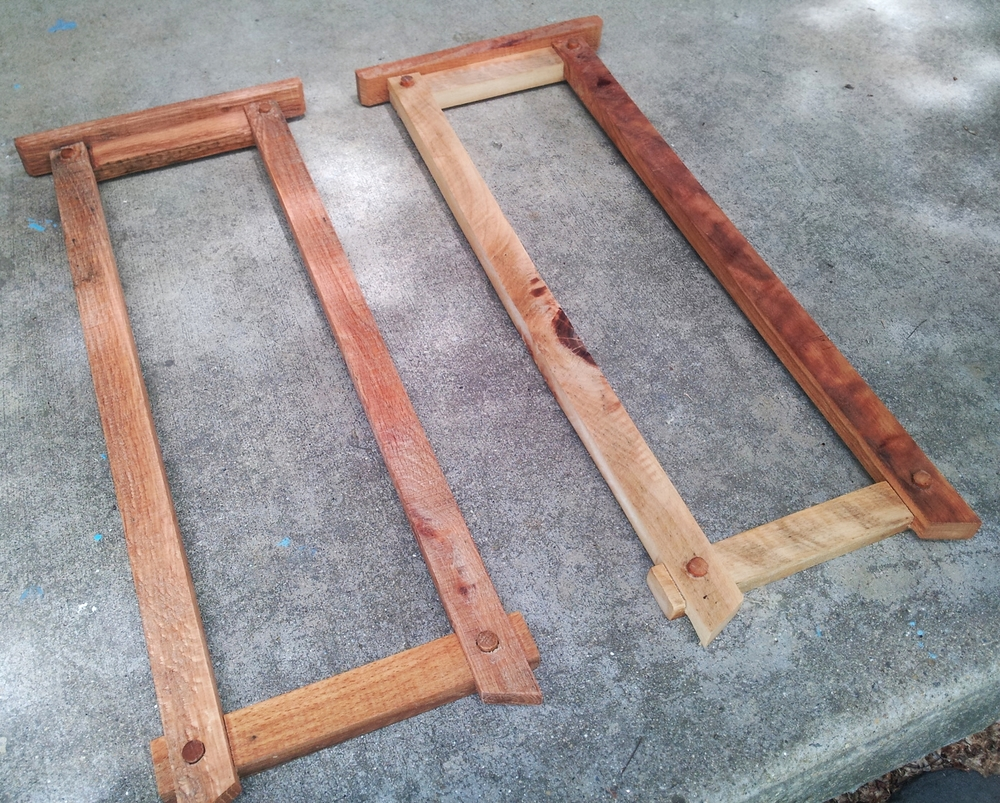 ...we then used the model to recreate the frames in upcycled pallet wood...