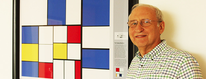 Ben Shneiderman with  The Singing Mondrian  treemap