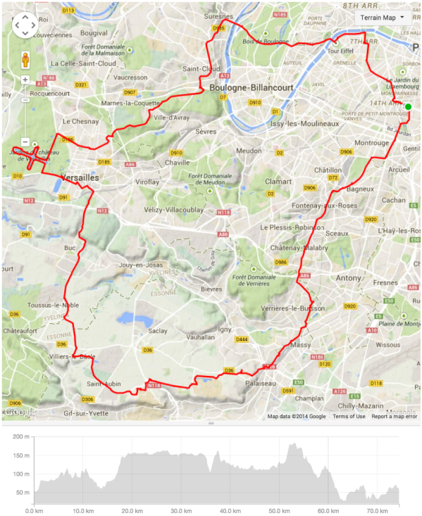 Le Tour de VIS 2014 - provisional route from conference hotel [updated 141030]