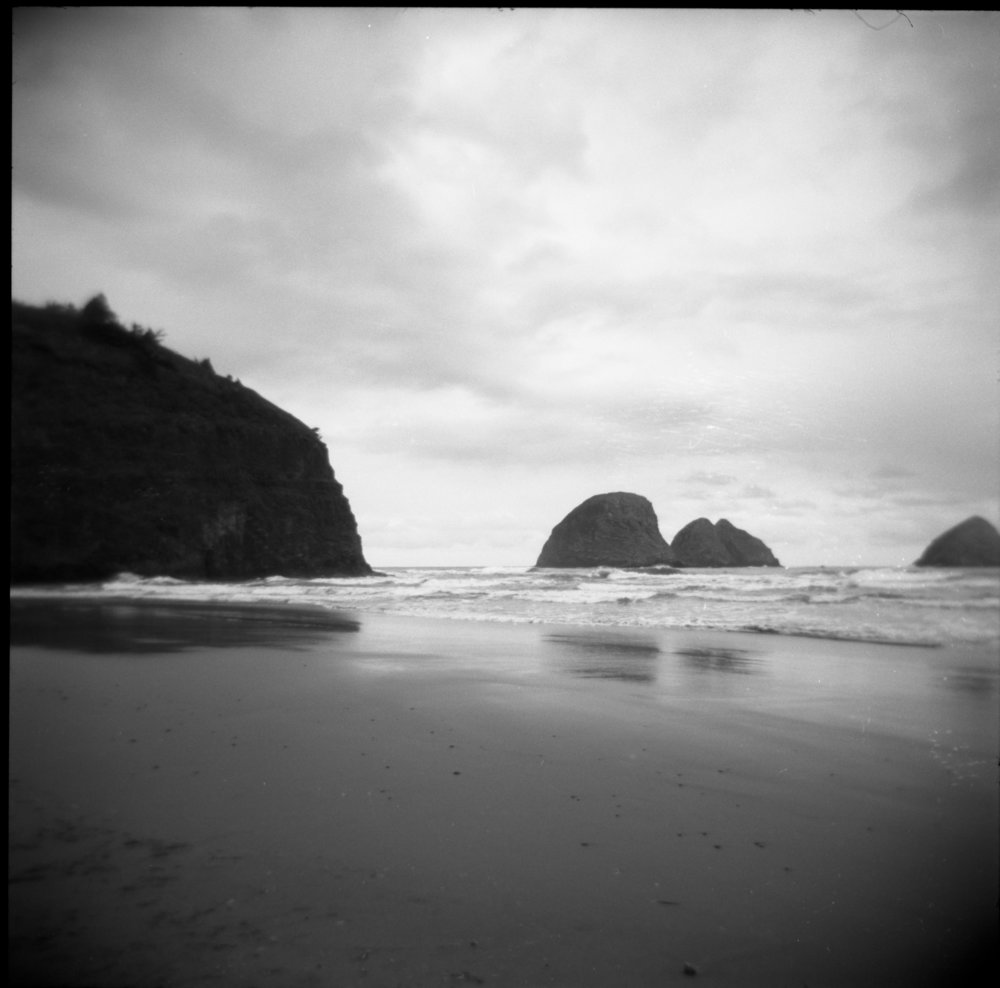 Beach 6  2015  Photographed with a Holga, taken with 120mm film.