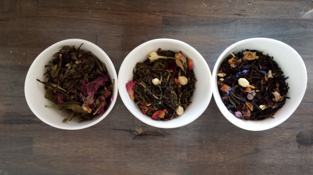 Celestial Plum, Cherry Blossom, & Tessa Gray: our Spring Tea Trio!