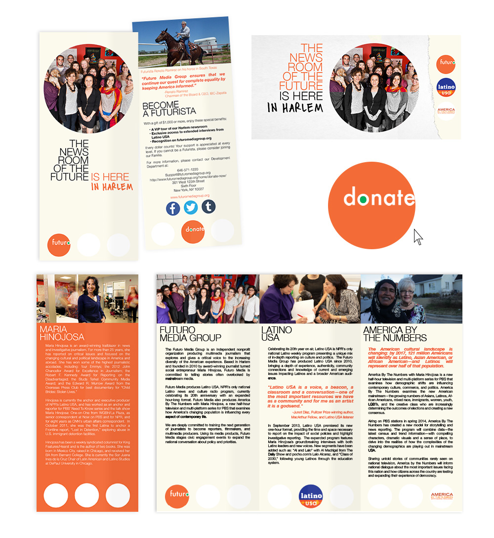 Futuro Media Group annual appeal design