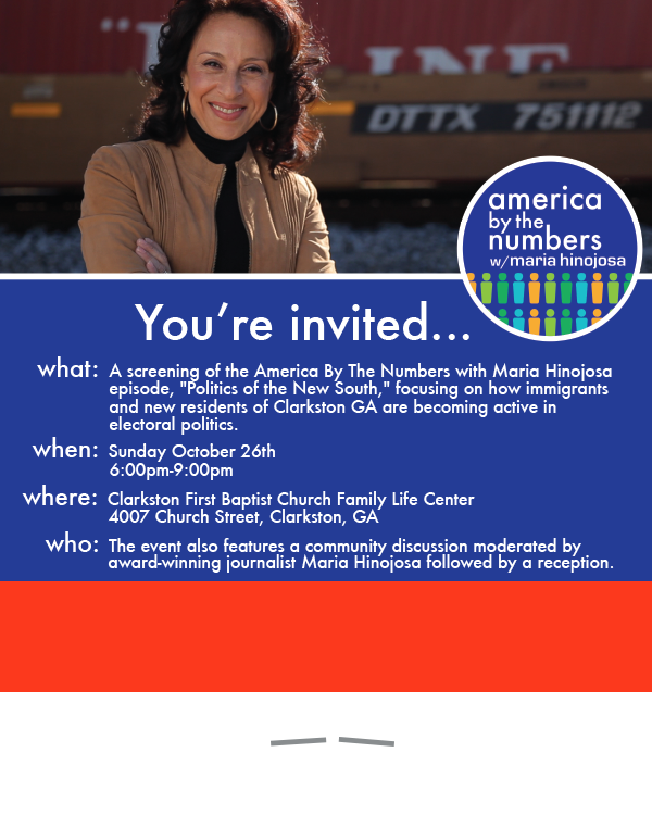 America By The Numbers with Maria Hinojosa Screening Tour Collateral