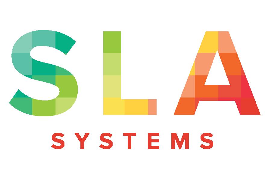 sla systems logo incendiary designs