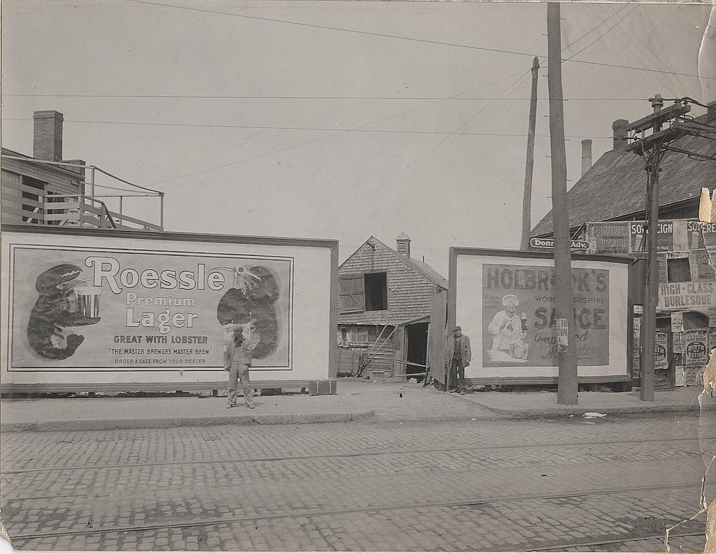 Love the awesome Roessle sign in this City of Boston Archives photo.    cityofbostonarchives :     790 Albany St., rear from Southampton Street, South End, 28 May 1915, ca. 1914-1918, Special Examination photograph collection, 1914-1918 (Collection # 5410.010), City of Boston Archives          This work is free of known copyright restrictions.  Please attribute to City of Boston Archives. To see more images from this collection, click  here