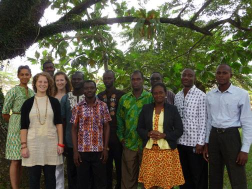 Conducting visioning workshops with lecturers from public agricultural colleges in Ghana
