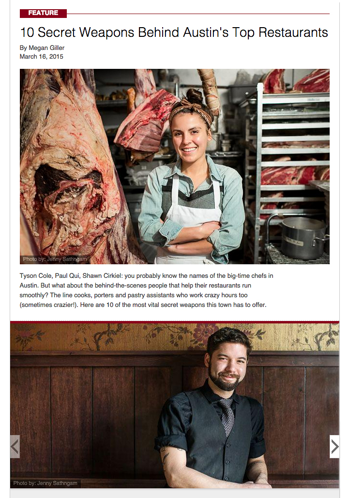 Austin Restaurant MVPs for Zagat. More portraits here.