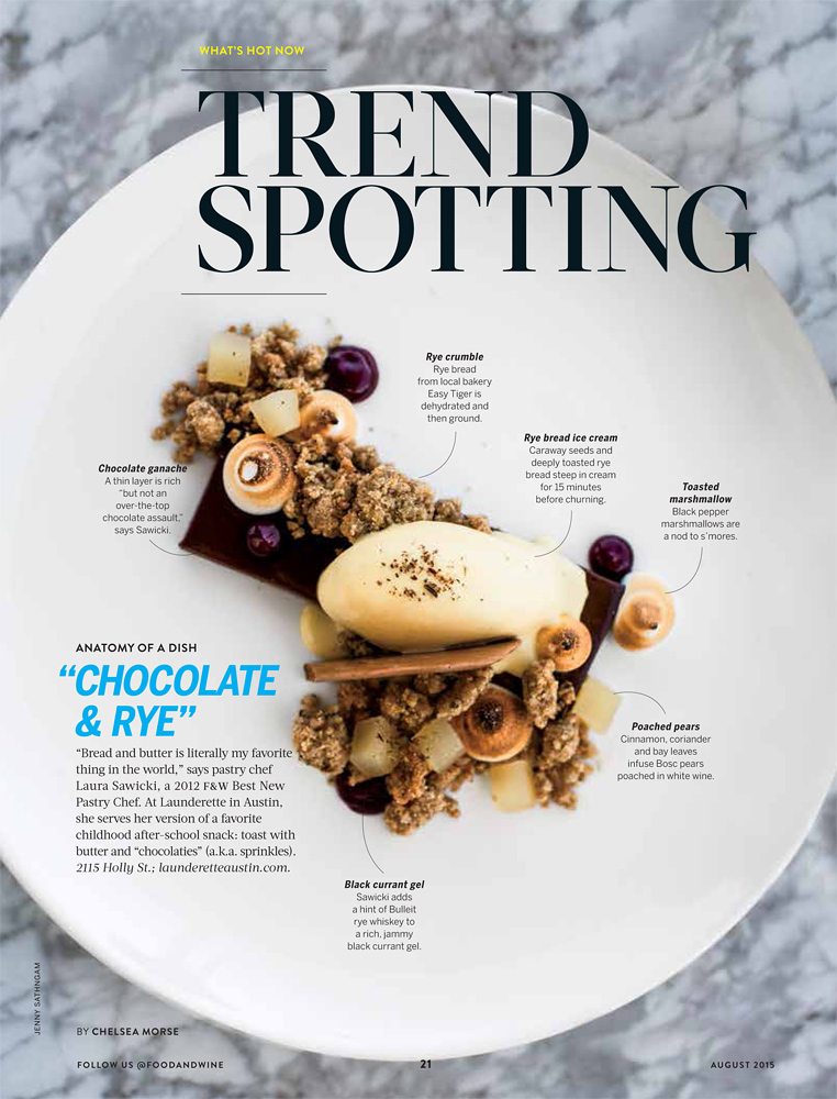 Food and Wine, August 2015.